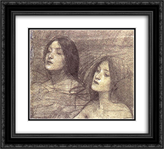 Hylas and the Nymphs 22x20 Black or Gold Ornate Framed and Double Matted Art Print by John William Waterhouse