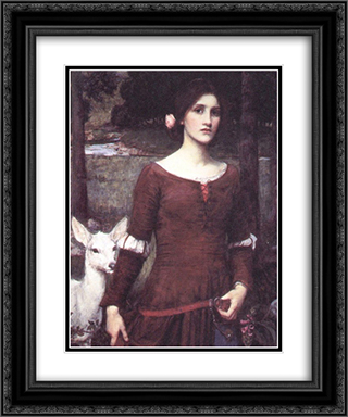 The Lady Clare 20x24 Black or Gold Ornate Framed and Double Matted Art Print by John William Waterhouse