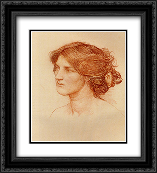 Study For Gather Ye Rosebuds While Ye May 20x22 Black or Gold Ornate Framed and Double Matted Art Print by John William Waterhouse
