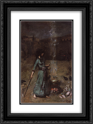 Study for The Magic Circle 18x24 Black or Gold Ornate Framed and Double Matted Art Print by John William Waterhouse