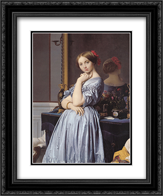 Vicomtess Othenin d'Haussonville, nee Louise-Albertine de Broglie 20x24 Black or Gold Ornate Framed and Double Matted Art Print by Jean Auguste Dominique Ingres