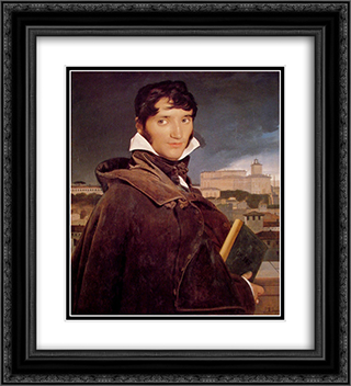 Francois-Marius Granet 20x22 Black or Gold Ornate Framed and Double Matted Art Print by Jean Auguste Dominique Ingres