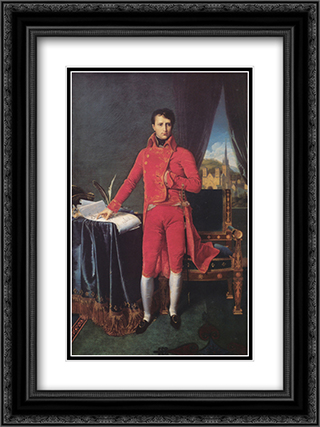 Bonaparte as First Consul 18x24 Black or Gold Ornate Framed and Double Matted Art Print by Jean Auguste Dominique Ingres