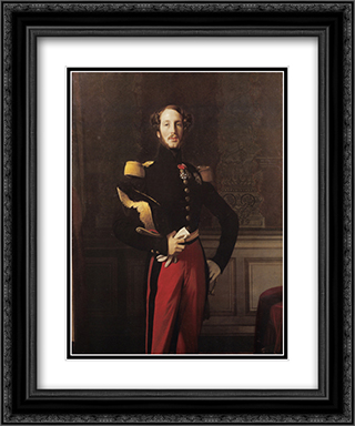 Ferdinand-Philippe-Louis-Charles-Henri, Duc d'Orleans 20x24 Black or Gold Ornate Framed and Double Matted Art Print by Jean Auguste Dominique Ingres