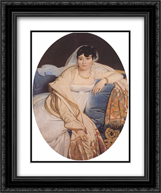 Madame Philibert Riviere, nee Marie-Francoise-Jacquette-Bibiane Blot de Beauregard 20x24 Black or Gold Ornate Framed and Double Matted Art Print by Jean Auguste Dominique Ingres