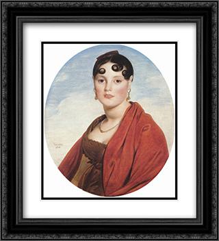 Madame Aymon, known as La Belle Zelie 20x22 Black or Gold Ornate Framed and Double Matted Art Print by Jean Auguste Dominique Ingres