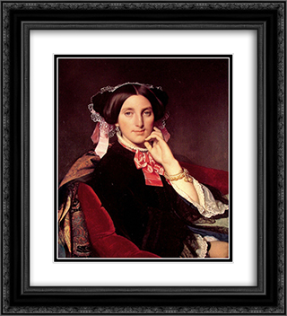 Madame Henri Gonse 20x22 Black or Gold Ornate Framed and Double Matted Art Print by Jean Auguste Dominique Ingres