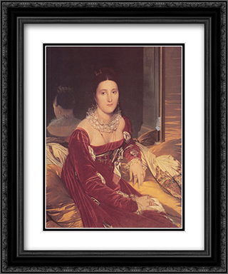 Madame de Senonnes, nee Marie-Genevieve-Marguerite Marcoz, later Vicomtess de Senonnes 20x24 Black or Gold Ornate Framed and Double Matted Art Print by Jean Auguste Dominique Ingres