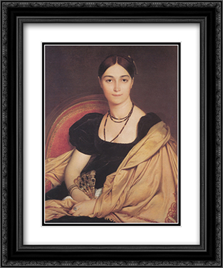 Madame Duvaucey 20x24 Black or Gold Ornate Framed and Double Matted Art Print by Jean Auguste Dominique Ingres