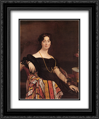 Madame Jacques-Louis Leblanc, nee Francoise Poncelle 20x24 Black or Gold Ornate Framed and Double Matted Art Print by Jean Auguste Dominique Ingres