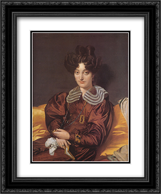 Madame Marie Marcotte (Marcotte de Sainte-Marie), nee Suzanne-Clarisse de Salvaing de Boissieu 20x24 Black or Gold Ornate Framed and Double Matted Art Print by Jean Auguste Dominique Ingres