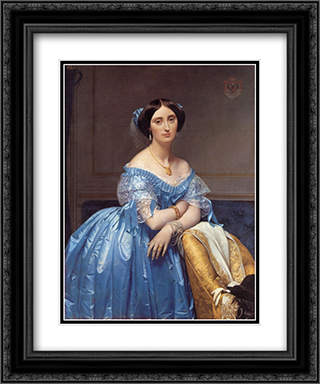 Princesse Albert de Broglie, nee Josephine-Eleonore-Marie-Pauline de Galard de Brassac de Bearn 20x24 Black or Gold Ornate Framed and Double Matted Art Print by Jean Auguste Dominique Ingres