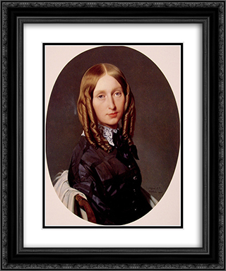 Madame Frederic Reiset 20x24 Black or Gold Ornate Framed and Double Matted Art Print by Jean Auguste Dominique Ingres