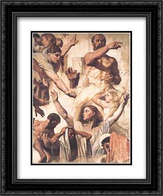 Study for The Martyrdom of St. Symphorien 20x24 Black or Gold Ornate Framed and Double Matted Art Print by Jean Auguste Dominique Ingres