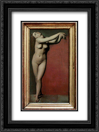 Angelique 18x24 Black or Gold Ornate Framed and Double Matted Art Print by Jean Auguste Dominique Ingres
