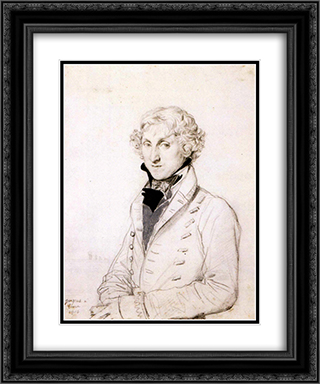 Charles Thomas Thruston 20x24 Black or Gold Ornate Framed and Double Matted Art Print by Jean Auguste Dominique Ingres