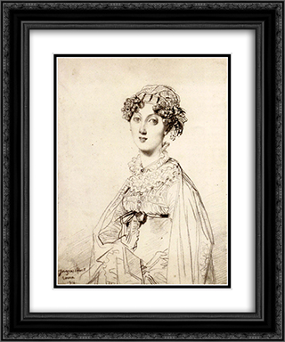 Lady William Henry Cavendish Bentinck, born Lady Mary Acheson 20x24 Black or Gold Ornate Framed and Double Matted Art Print by Jean Auguste Dominique Ingres