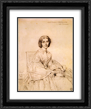 Madame Franz Adolf von Stuerler, born Matilda Jarman 20x24 Black or Gold Ornate Framed and Double Matted Art Print by Jean Auguste Dominique Ingres