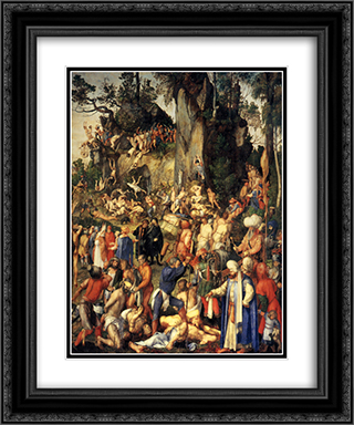 Matyrdom of the Ten Thousand 20x24 Black or Gold Ornate Framed and Double Matted Art Print by Albrecht Durer