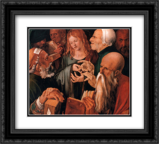 Christ among the Doctors 22x20 Black or Gold Ornate Framed and Double Matted Art Print by Albrecht Durer