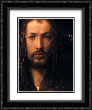 Self Portrait [detail] 20x24 Black or Gold Ornate Framed and Double Matted Art Print by Albrecht Durer