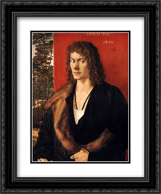 Portrait of Oswald Krel 20x24 Black or Gold Ornate Framed and Double Matted Art Print by Albrecht Durer