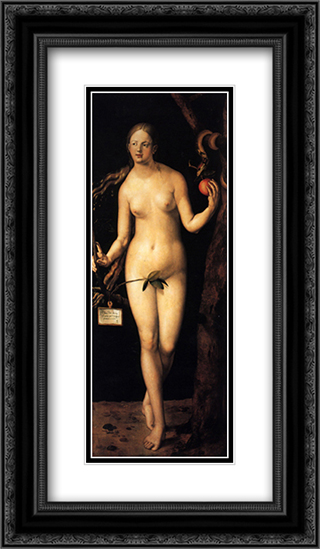 Eve 14x24 Black or Gold Ornate Framed and Double Matted Art Print by Albrecht Durer