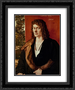 Portrait of a Man 20x24 Black or Gold Ornate Framed and Double Matted Art Print by Albrecht Durer