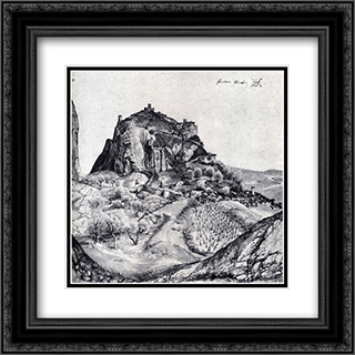 The Citadel Of Arco In The South Tyrol 20x20 Black or Gold Ornate Framed and Double Matted Art Print by Albrecht Durer