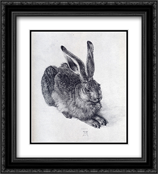 Young Hare 20x22 Black or Gold Ornate Framed and Double Matted Art Print by Albrecht Durer