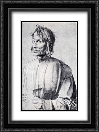 The Architect Hieronymus Of Augsburg 18x24 Black or Gold Ornate Framed and Double Matted Art Print by Albrecht Durer