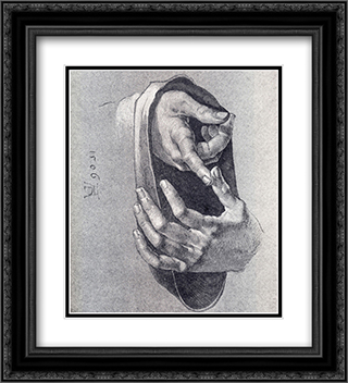 Boy's Hands 20x22 Black or Gold Ornate Framed and Double Matted Art Print by Albrecht Durer