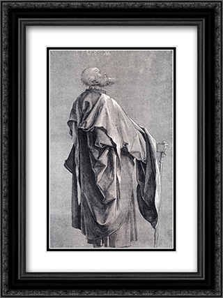 Study Of Drapery 18x24 Black or Gold Ornate Framed and Double Matted Art Print by Albrecht Durer