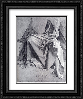 Study Of Drapery 20x24 Black or Gold Ornate Framed and Double Matted Art Print by Albrecht Durer
