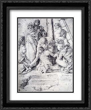 The Lamentation 20x24 Black or Gold Ornate Framed and Double Matted Art Print by Albrecht Durer