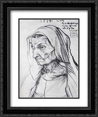 Durer's Mother 20x24 Black or Gold Ornate Framed and Double Matted Art Print by Albrecht Durer