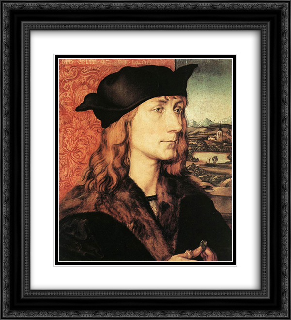 Hans Tucher 20x22 Black or Gold Ornate Framed and Double Matted Art Print by Albrecht Durer