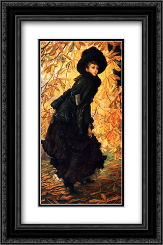 October 16x24 Black or Gold Ornate Framed and Double Matted Art Print by James Tissot