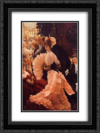 A Woman of Ambition 18x24 Black or Gold Ornate Framed and Double Matted Art Print by James Tissot