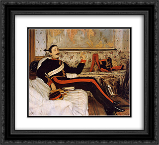 Captain Frederick Gustavus Burnaby 22x20 Black or Gold Ornate Framed and Double Matted Art Print by James Tissot
