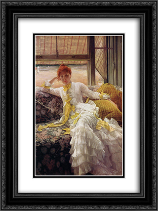 Seaside 18x24 Black or Gold Ornate Framed and Double Matted Art Print by James Tissot