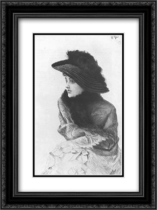 Portrait de M. N ... 18x24 Black or Gold Ornate Framed and Double Matted Art Print by James Tissot
