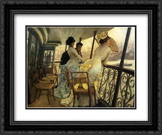 The Gallery of H.M.S. 'Calcutta' (Portsmouth) 24x20 Black or Gold Ornate Framed and Double Matted Art Print by James Tissot
