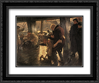 The Prodigal Son in Modern Life: The Return 24x20 Black or Gold Ornate Framed and Double Matted Art Print by James Tissot