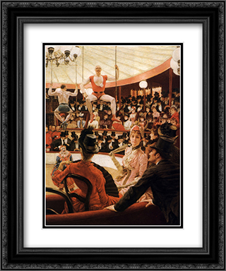 Women of Paris: The Circus Lover 20x24 Black or Gold Ornate Framed and Double Matted Art Print by James Tissot