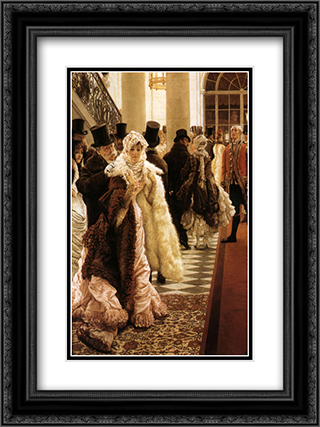 The Woman of Fashion 18x24 Black or Gold Ornate Framed and Double Matted Art Print by James Tissot
