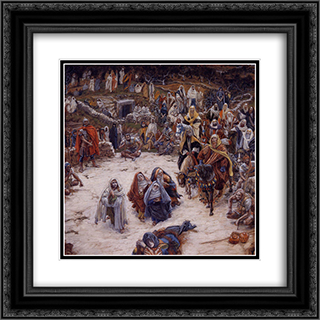 What Our Saviour Saw from the Cross 20x20 Black or Gold Ornate Framed and Double Matted Art Print by James Tissot