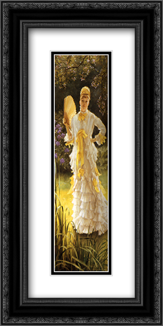 July 12x24 Black or Gold Ornate Framed and Double Matted Art Print by James Tissot