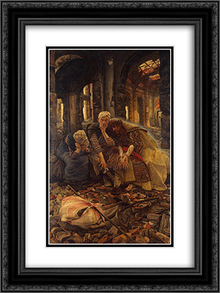 Inner Voices 18x24 Black or Gold Ornate Framed and Double Matted Art Print by James Tissot