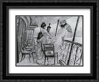 The Gallery of HMS Calcutta - A Memory of an on-board Ball' 24x20 Black or Gold Ornate Framed and Double Matted Art Print by James Tissot